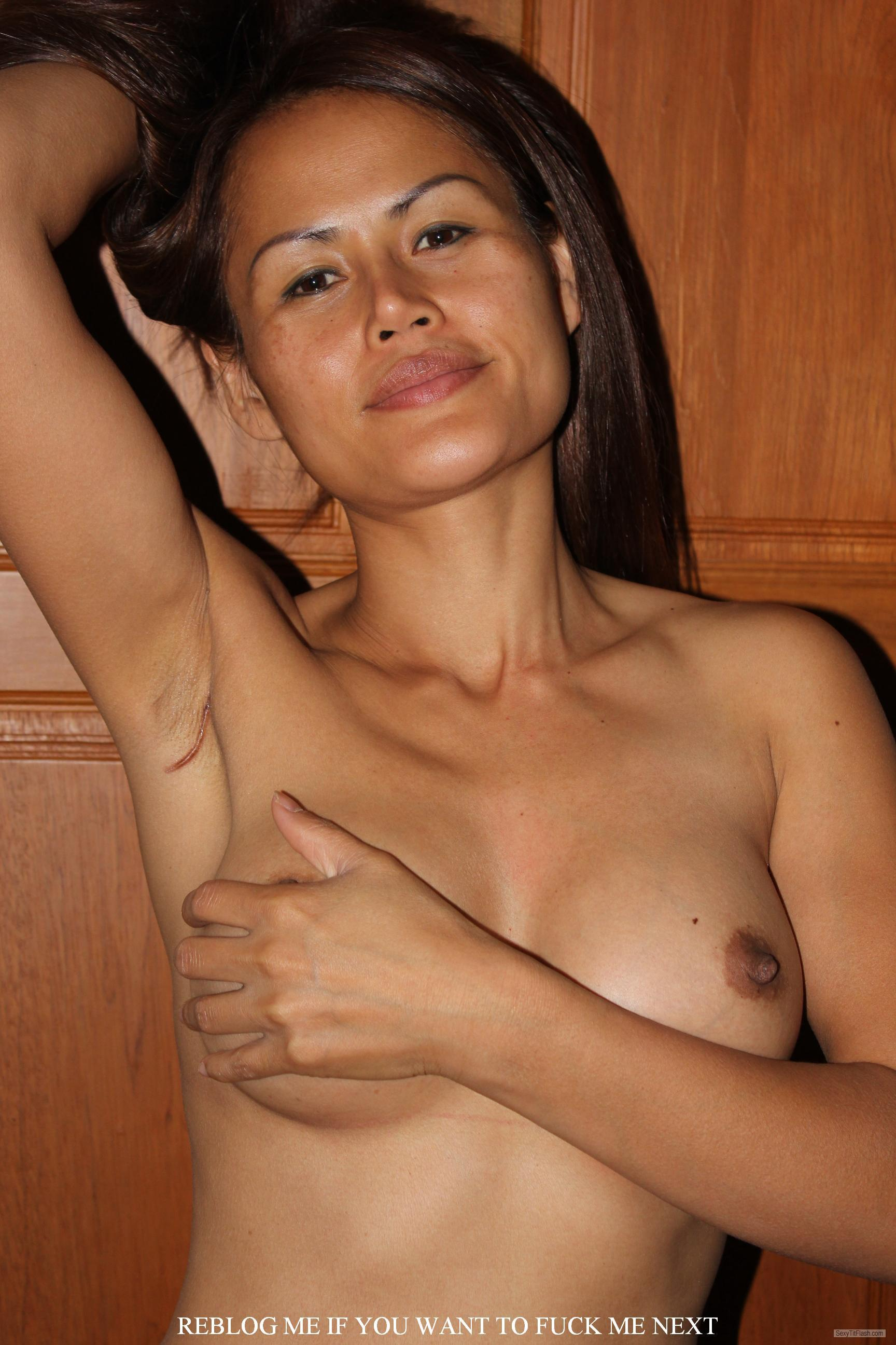 Tit Flash: My Small Tits - Topless AsianSunshine from Thailand